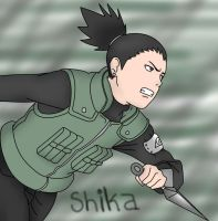 Shikamaru attack by sozine2