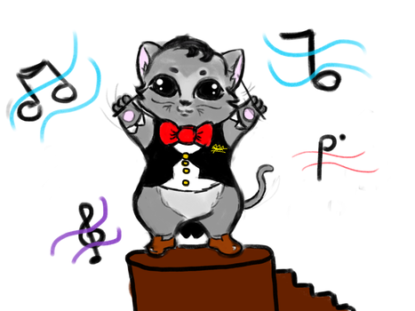 kitten conductor by queenzion