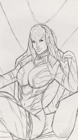 klingonqueen_ancientdrawing by Riguz