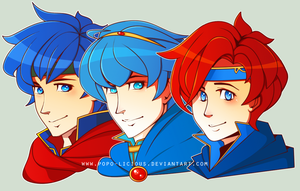 FE - Lordlings - Roy + Marth + Ike by Popo-Licious
