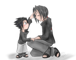 Uchiha Brotherly Fluff by kat-thefox