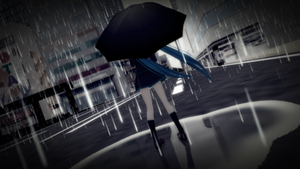 In the rain by Galatea-san