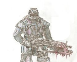Gears of war Dog soldier by maxviolence