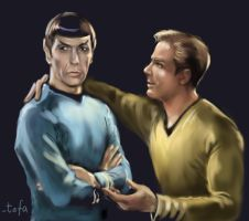 Spock and Kirk by tafafa