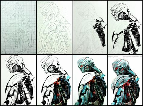[FOR SALE] Ultron - Avengers:Age of Ultron WIP's by Keith-arts02