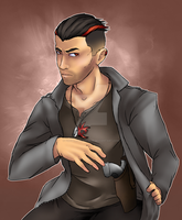 Humanized: Ow the Edge by firebladecatcalie