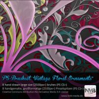 Vintage Floral Ornaments v.1 by Hexe78