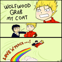 Wolfwood grab my coat by RyokoSanBrasil