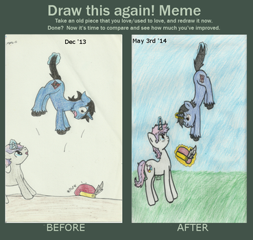Before and After: Floating Tommy by AmerillaRose