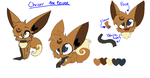 CHRISSIE THE EEVEE OFFICIAL REFERENCE 2015 by TwilightTheEevee