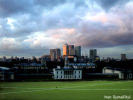 Sunset at Greenwich Park 2 by caliiope
