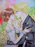 Haruhi x Tamaki : That moment. by melmoon