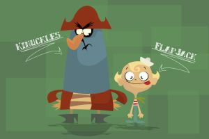Flapjack and Captain by LordWonk