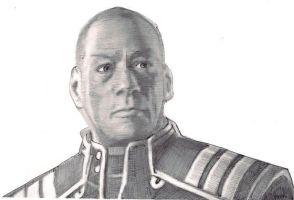 Rough pen and ink Admiral David Anderson by jagespages