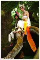 Sanzang and Gracia in a treeee by Rogue-chan