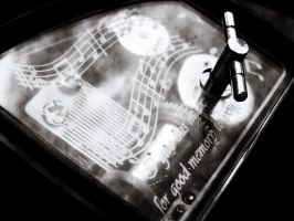 Music box - old black-n-white by AnnFrost-stock
