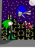 Sonic + Scourge :Final: by LilPinkKirby