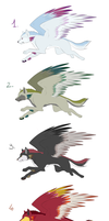 Winged Wolves - Draw To Adopt ! [CLOSED] by Ardate
