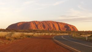 Ayer's Rock at Sunset by rh281285