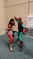 Spider Woman and Green Goblin by Sab-Zilla