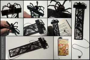 Spider Bookmark by Maylar