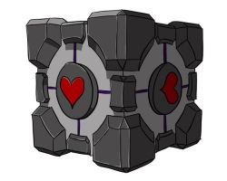 The Companion Cube by Ohanzee