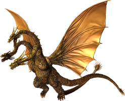 Godzilla The Video Game: King Ghidorah by sonichedgehog2