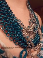 Blue and Silver Neck Ornament (2) by ulfchild