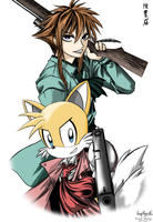 Tails and Chris Thorndyke by Kankurou-P