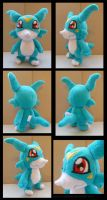 Veemon Plush by Ashayx