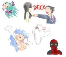 UMVC3 doodles by unknownlifeform