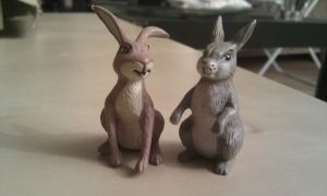 Farthing wood Hornby Rabbit and Hare by CrocodileRawk