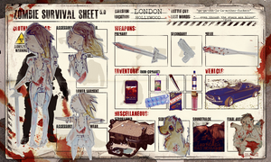 Zombie Survival Sheet by LL0ND0N