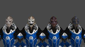 Blue Suns Turian Females V.I.P status update by TheKillerCobra
