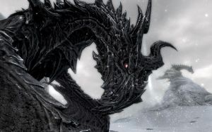 Skyrim Screenshots- Alduin by vincent-is-mine