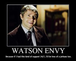 Watson Envy Motivational Poster by shallowgravy