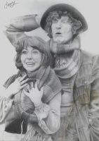 Sarah-Jane Smith and the fourth Doctor by luke24v10