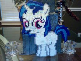 Large Perler Bead Art: Filly DJ Pon-3 by Perler-Pony