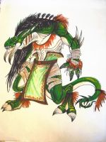lizardman of the south tribe by TheWolfMaria