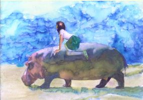 A Trip With Hippo by kenikenikeni