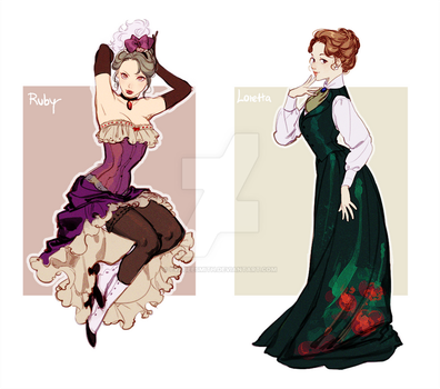 Victorian ladies adoptable auction ( OPEN 1/2) by EvaBeeSmith