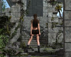 Lara Croft- Temple Entrance by RetroDevil