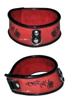 wave, roses collar by leatherforfun