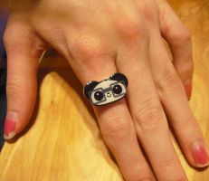 Little Nerdy Panda Ring by Panduhmonium