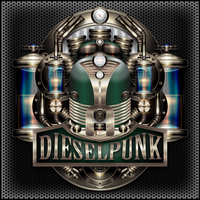 Dieselpunk Label IV the green One by IllustratorG