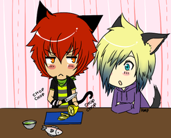 Kazu and Tak in the Kitchen by xxsymmetryxx