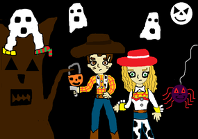Stay away from my sister Tree! : Halloween Contest by MaskedAngel95