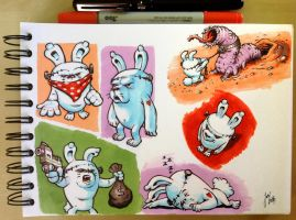 Grumpy Lobotomized Rabbits 2 by JoseAlvesSilva