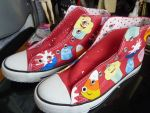 Custom Adventure Time shoes 2 by sarmander