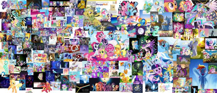 My Little Pony Epic Collage by Deonjr15